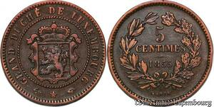 S7488 Luxembourg Willem III 1849-1890 5 Centimes 1855 A Paris  ->Faire Offre
