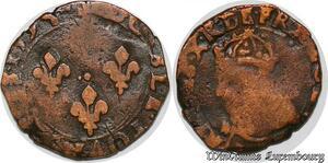 S7494 Charles X Cardinal de Bourbon double tournois 1594 ->Make offer