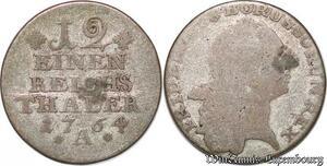 S7497 Germany Brandenburg-Preussen 1/12 Reichstaler 1764 B Friedrich II Silver