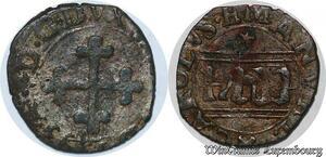 S7499 Rare ¼ 1/4 sol Charles-Emmanuel 1er Duc de Savoie chambery 1593 TTB