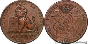 S7505 Belgium 5 Centimes 1837 Leopold -> Faire Offre