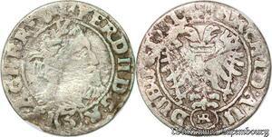 S7506 Poland 3 Kreuzer Ferdinand II 1631 Habsburg Breslau Silver ->Make offer