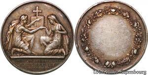 S7556 Médaille Mariage Homme Dieu Saint Mathieu Chapelle XIX Argent