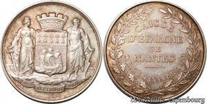 S7559 Jeton Caisse Epargne de Nantes Bretagne 21 JanvI 1821 Argent superbe