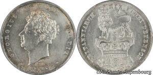 S7733 Rare Great Britain 6 Pence George IV 1826 PCGS AU Genuine Silver