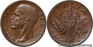 S7785 Italy 10 Centimes Vittorio Emanuele III 1936 R Roma FDC BU