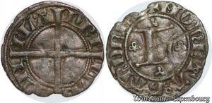 S7815 Rare Louis de crécy(1322-1346)denI Lettre L BIG 1322 1346 coin