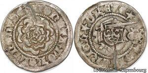 S7823 Rare L.Grafschaft Dietrich V 1401-1443Pfennig Um 1410/1420 Essen