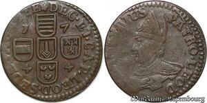 S7827 Liege Sede Vacante 1744 liard Bust of St. Lambert left ->Make offer