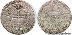 S7836 Rare Charles V 1364-1380 Blanc au K 20 avril 1365 Argent made offer