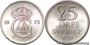 S7883 Suède Sweden 25 Öre Gustave VI 1973 FDC-> Make Offer