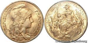 S7917 Rare 5 Centimes Dupuis 1899 PCGS MS66 RD FDC +++++++ -> Faire Offre