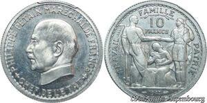 S7964 Etat Francais 1940-1944 Essai 10 francs Pétain 1943 Vézin PCGS SP63