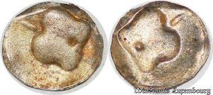S7997 Royaume Pyu Dynastie Vikrama 673-718 Sri Kshetra 1/100 unité incuse