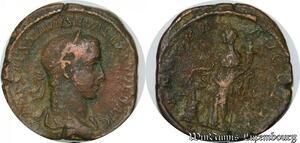 S4038 Rare Severus Alexander 222-235 Sestertius Rome Revers Inédit ? Avgvsti