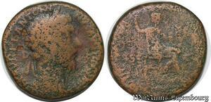 S4045 Marcus Aurelius 161-180 Sestertius Rome ->Faire Offre