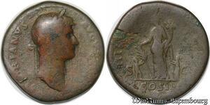 S4054 Sesterce Hadrianus Augustus Cos III Rome 119-138 - Faire Offre