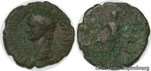 S4068 AS Claude Claudius 41-54 TI CLAV]DIVS Caesar AVG P M [TR P IMP P P