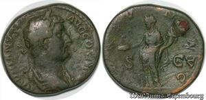 S4077 As Hadrianus Avg Cos III Rome 134-138 A IdentifI - Faire Offre