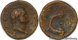 S4078 Titus As Caesar A.D. 69-79 dupondius Rome ->Faire Offre