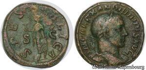S4083 Rare Sesterce Alexander Severo 232 Rome Spes - PVBLICA// S|C