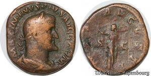 S4084 Rare Sesterce Maximin I Thrace Pius Augusti Rome 236-238 VSTI/S|C