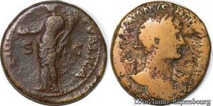S4085 Vespasian Æ Dupondius Lyon Lugdunum AD 77-78 IMP Caes COS VIII P P