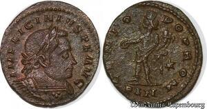 S4098 Licinius I 308-324 Nummus London 310-311 Imp P Genio Pop Rom/*/Pln SUP