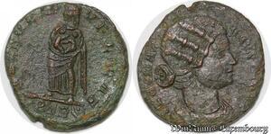 S4106 Rare Nummus Fausta 326 Trêve Spes Rei-Pvblicae// Ptr Superbe