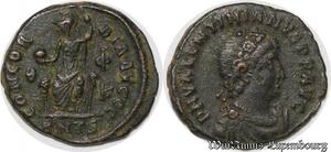 S4123 Valentinian II Nummus Antioch AD 375-392 D N P F Concordia SUP