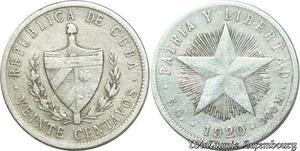 S2048 20 centavos 1920 Argent Silver ->Make offer