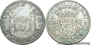 S2053 Très Rare Mexico Charles III 4 Reales 1764 Mo-MM Mexico City Silver