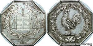 S2185 Rare Jeton Notaires 1831 Aondt. Amiens Coq Argent Silver - Faire Offre