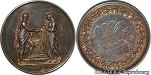 S2540 Médaille Mariage Montagny 1866 Argent Silver - Faire Offre
