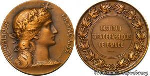 S2546 Médaille Rep Francaise Daniel Dupuis Inst Sténographique