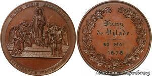 S2574 Coffret Médaille Communion Confirmation Blondelet 1878 - Faire Offre
