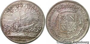 S2970 Token Louis XIV Secura Duabus Bourgogne Duc Bourbon 1694 Argent