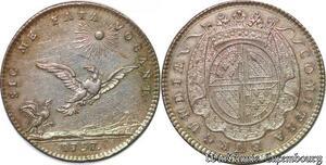 S2971 Token Louis XV Comitia Burgundia Sic Me Fata Vocant Prince Condé 1737