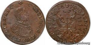 S2982 Token PAYS-BAS Bruxelles Bureau des Finances Charles II 1670 SPL