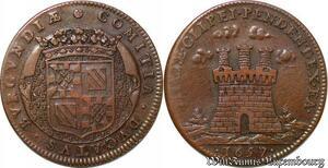 S2985 Louis XIV Bourgogne le sacre et les habiles capitaines francais 1657 SUP
