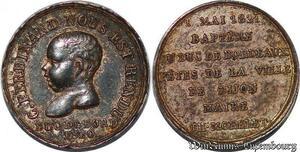 S3008 Token 1er Mai Baptême Duc Bordeaux Morelet Maire Dijon 1821
