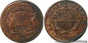 S3016 Token Louis XIV Feand Ville Dijon Bresse 1701 TTB+