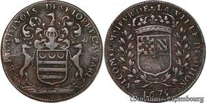 S3058 Rare Jeton Token Benoit Palmedès Baudinot Seigneur Seiloe Parlement 1675