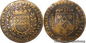 S3113 Rare Jeton Token Bégnine Euvrard Maire Vicomte Maïeur Avocat Dijon 1629