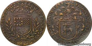 S3116 Rare Jeton Token Jacques de Frasans Maire Vicomte Maïeur Dijon 1638