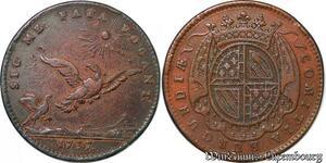 S3136 Jeton Token Etats Bourgogne Louis XV Sic Me Fata Vocant 1737