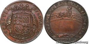 S3151 Rare Jeton Etats Bourgogne Louis XIV Nostrum Uni Ex Superis 1682 SUP