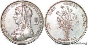S3283 Médaille Clémen Isaura Lud Floral Restauratrix Jeux Floraux Dubois 1819