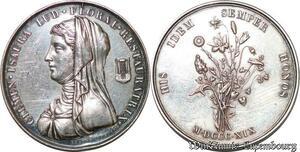 S3292 Médaille Clemen Isaura Floral Jeux Floraux Dubois 1819 Silver