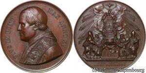 S3377 Medal Pius IX Pont Max An XV Fidei Regula Eccles Fundamentum Bianchi 1878